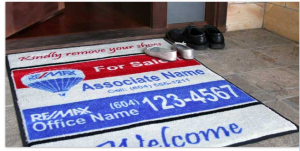 Indoor / Outdoor custom mats great for offices, open houses, and more!