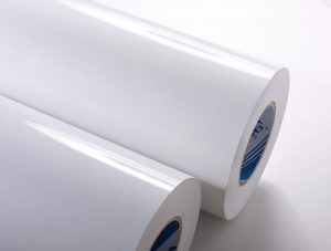 A coated stock has a finish on it so that it is glossy before it is printed. These stocks can sometimes be written on, however if there is an added varnish it can become more difficult.