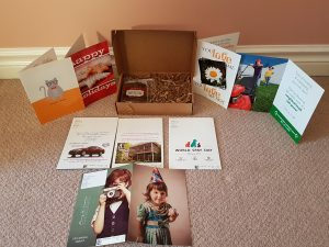 These custom greeting cards have personalized photos, logo's and handwriting! The brownie is even better than it looks!