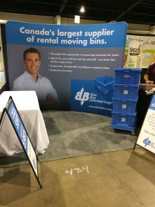 This back display is a 10' x 8' stand to aid you in creating the best look for your tradeshow booths!